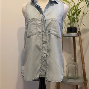 Anthropologie Cloth & Stone Summer Denim Top XS